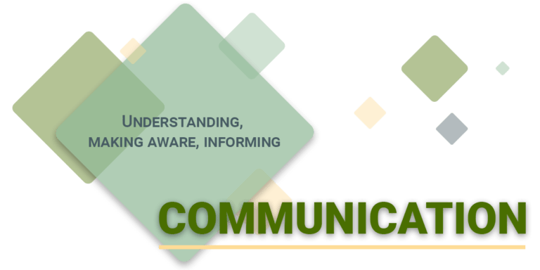 Communication: understanding, making aware, informing.