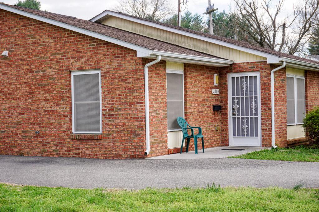 A brick house located in Bluestone Park.