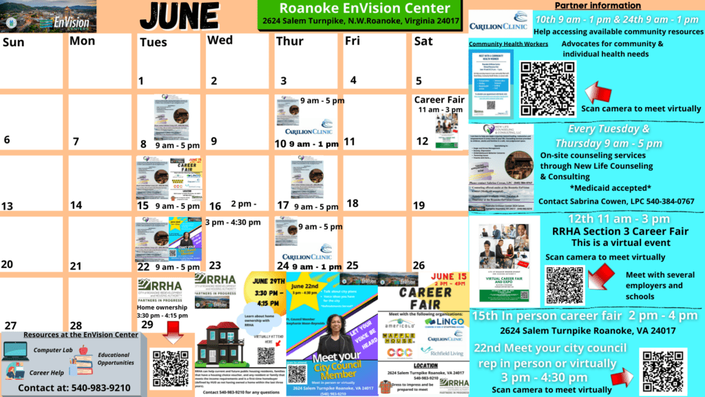 June EnVision Center Calendar