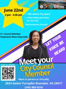 Meet Your City Council Member @ Roanoke EnVision Center
