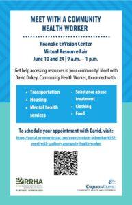 Carilion Community Health Worker at RRHA @ Roanoke EnVision Center