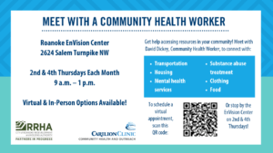 Meet with a Carilion Community Health Worker @ Roanoke EnVision Center