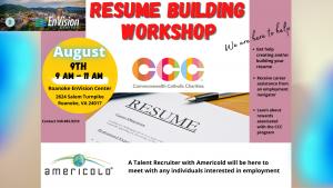 Resume Building Workshop @ Roanoke EnVision Center