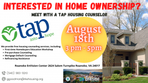 Home Ownership Workshop @ Roanoke EnVision Center