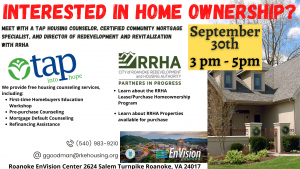 Home Ownership class with TAP and RRHA @ Roanoke EnVision Center